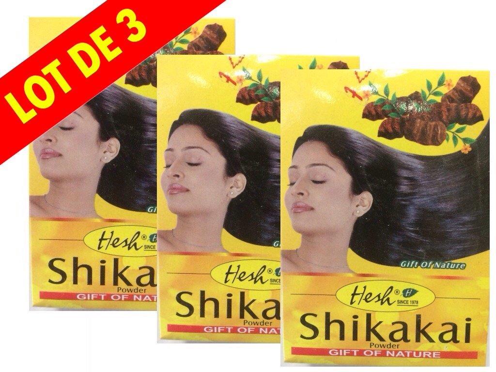 Poudre Hesh Shikakai - 3 Boites de 100g