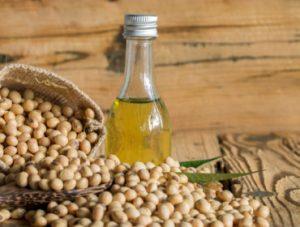 flacon d'huile de soja